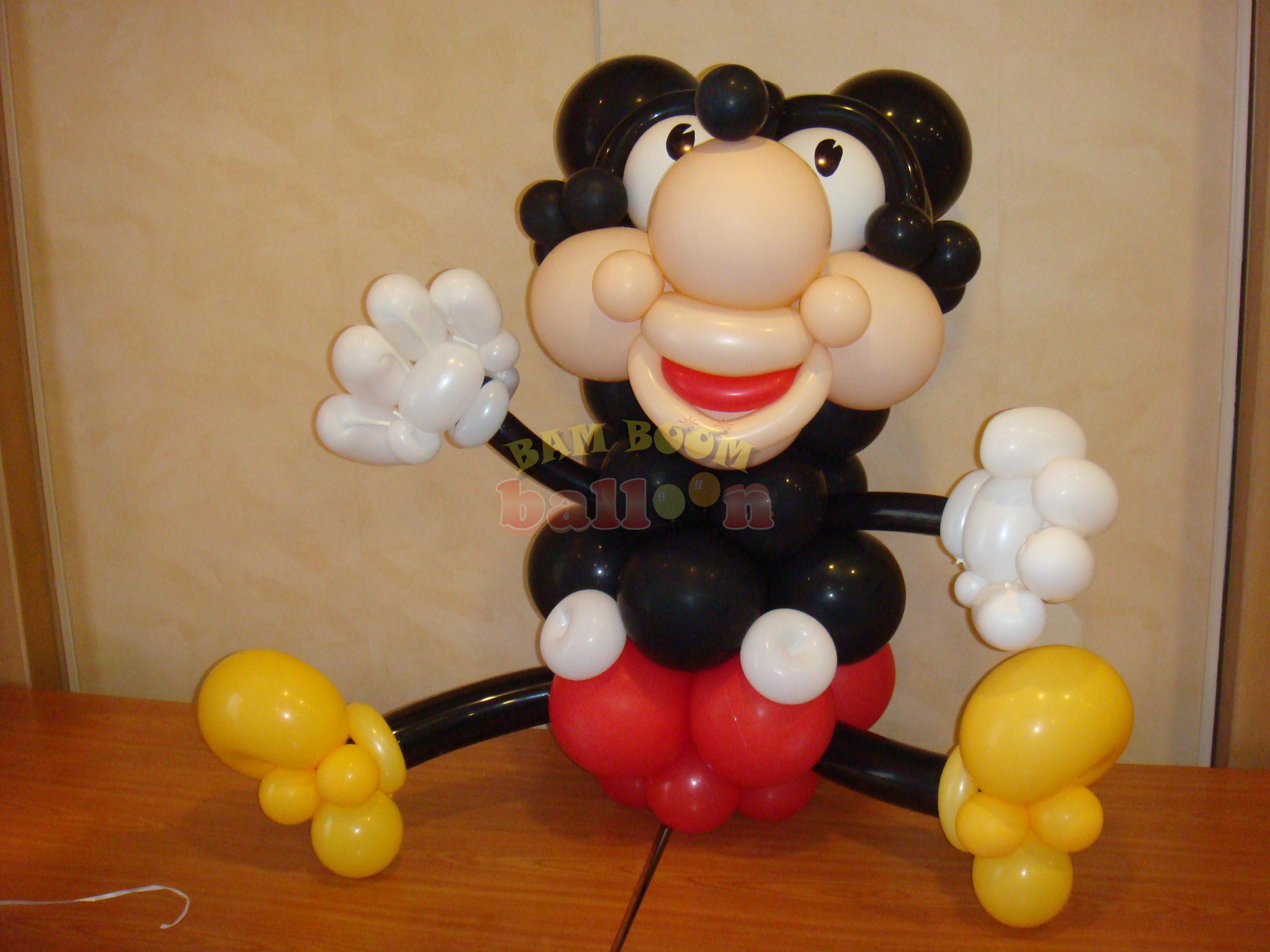Mickey Mouse με μπαλόνια