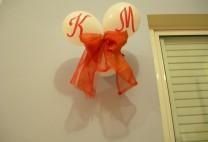 Μπαλόνια με μονόγραμμα για γάμο