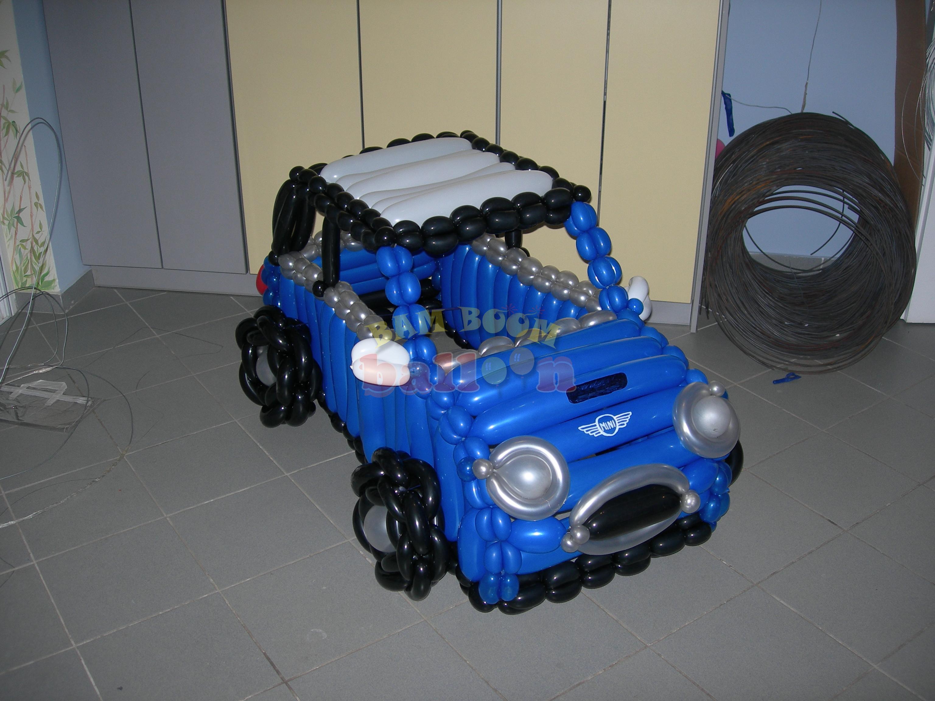 Jumbo αυτοκίνητο με μπαλόνια