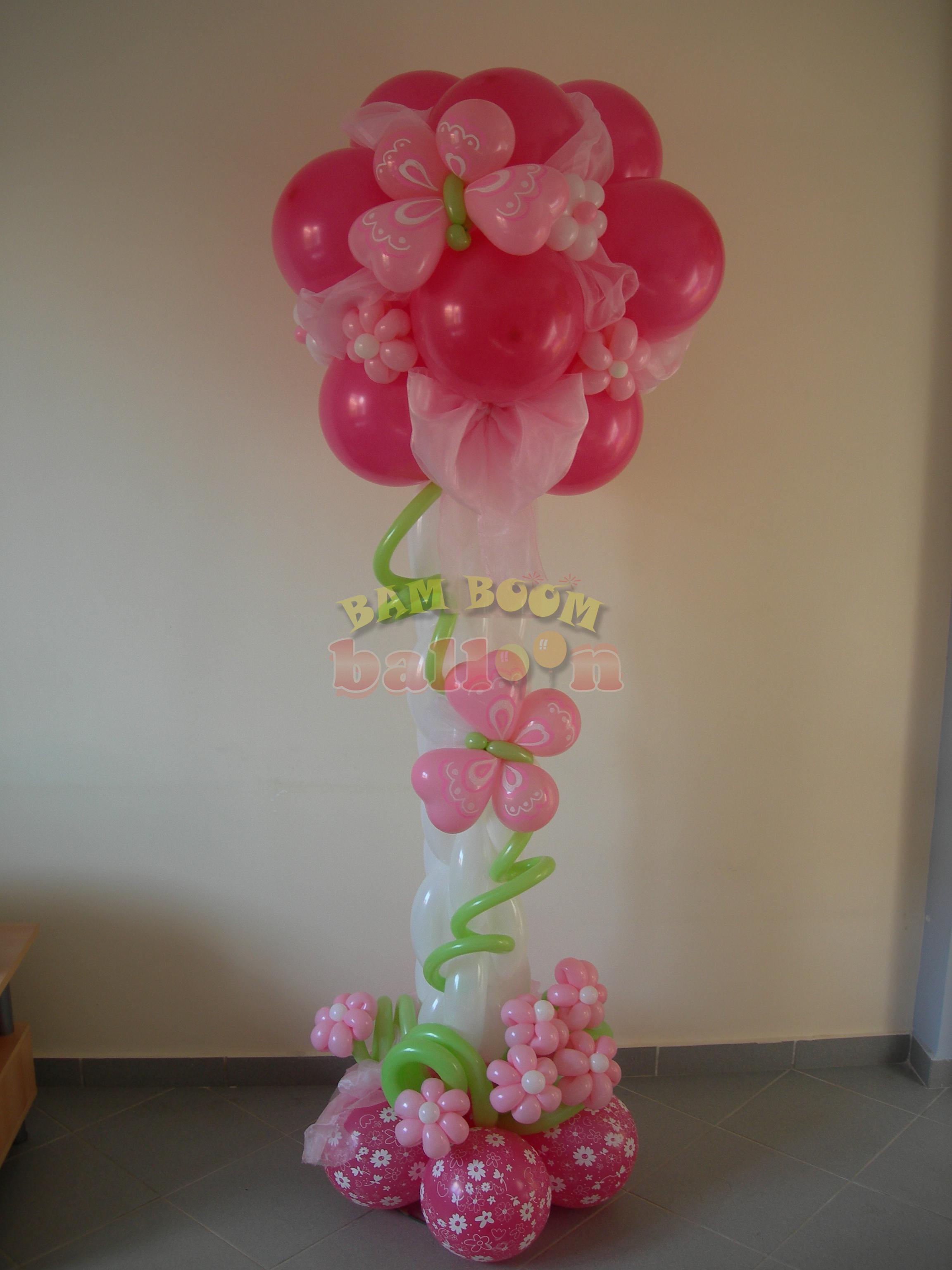 Λουλούδια σε στήλη