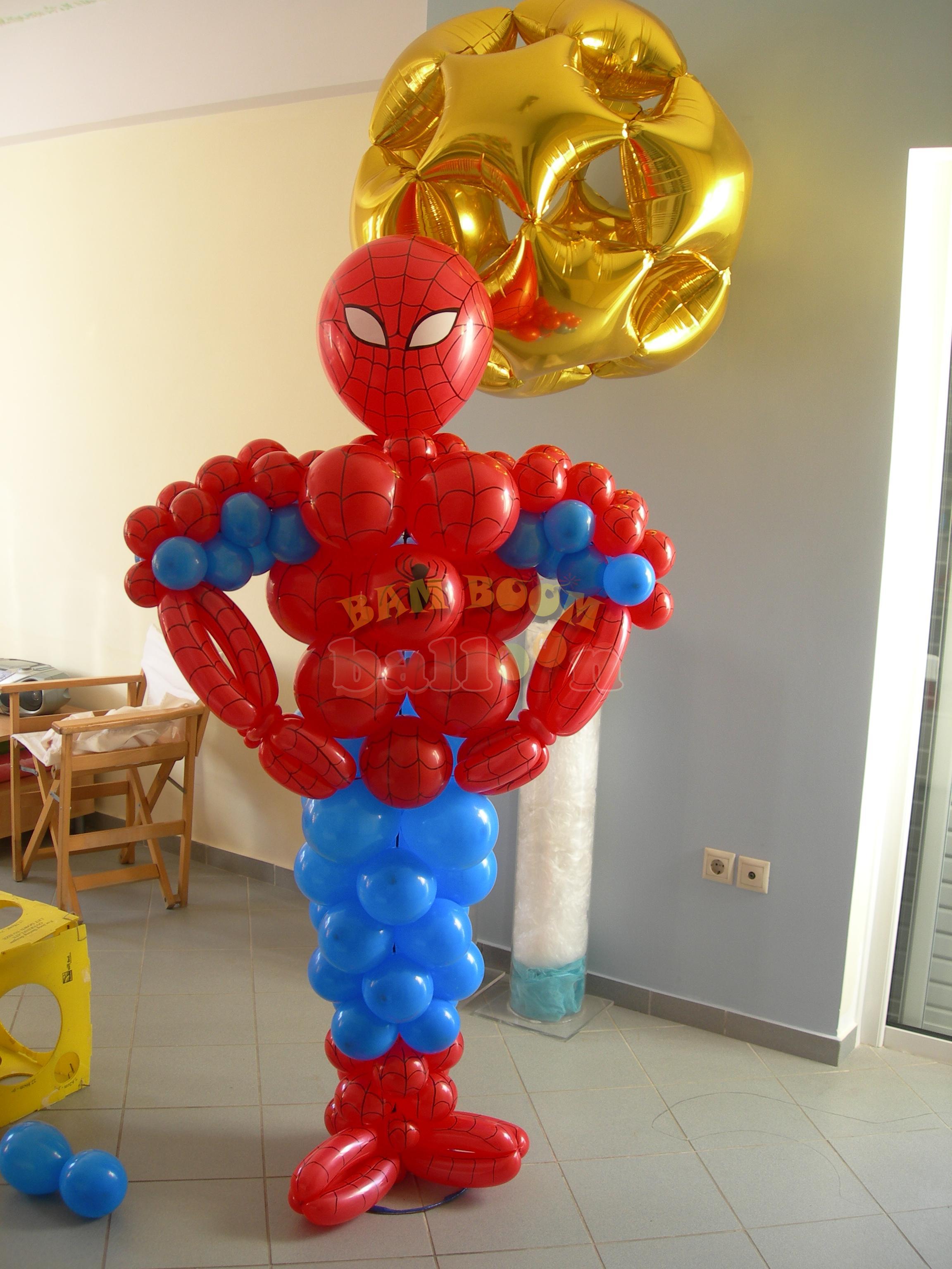 Jumbo Spiderman  με μπαλόνια