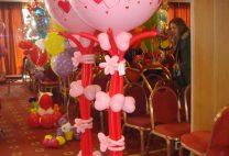 Στήλη από καρδιές μικρές και μεγάλο μπαλόνι 3π