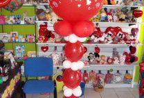 Στήλη από λινκ μπαλόνια και μεγάλο μπαλόνι 3π